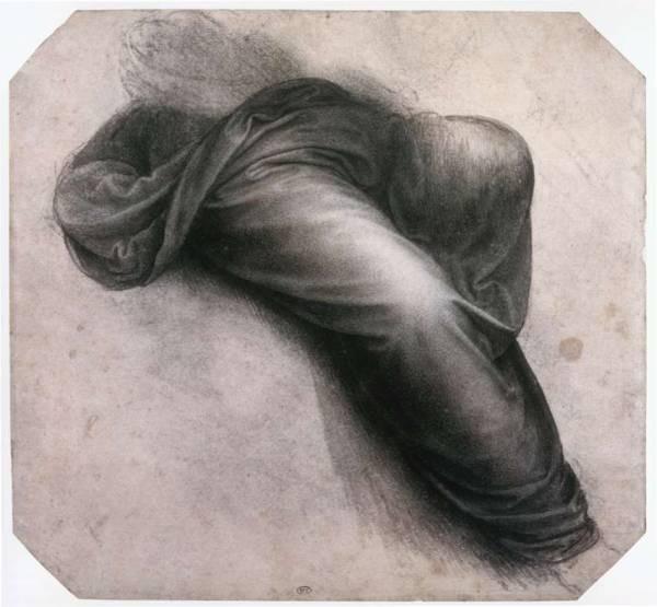 Leonardo da Vinci Study for Madonna and Child with St Anne Drapery over the legs